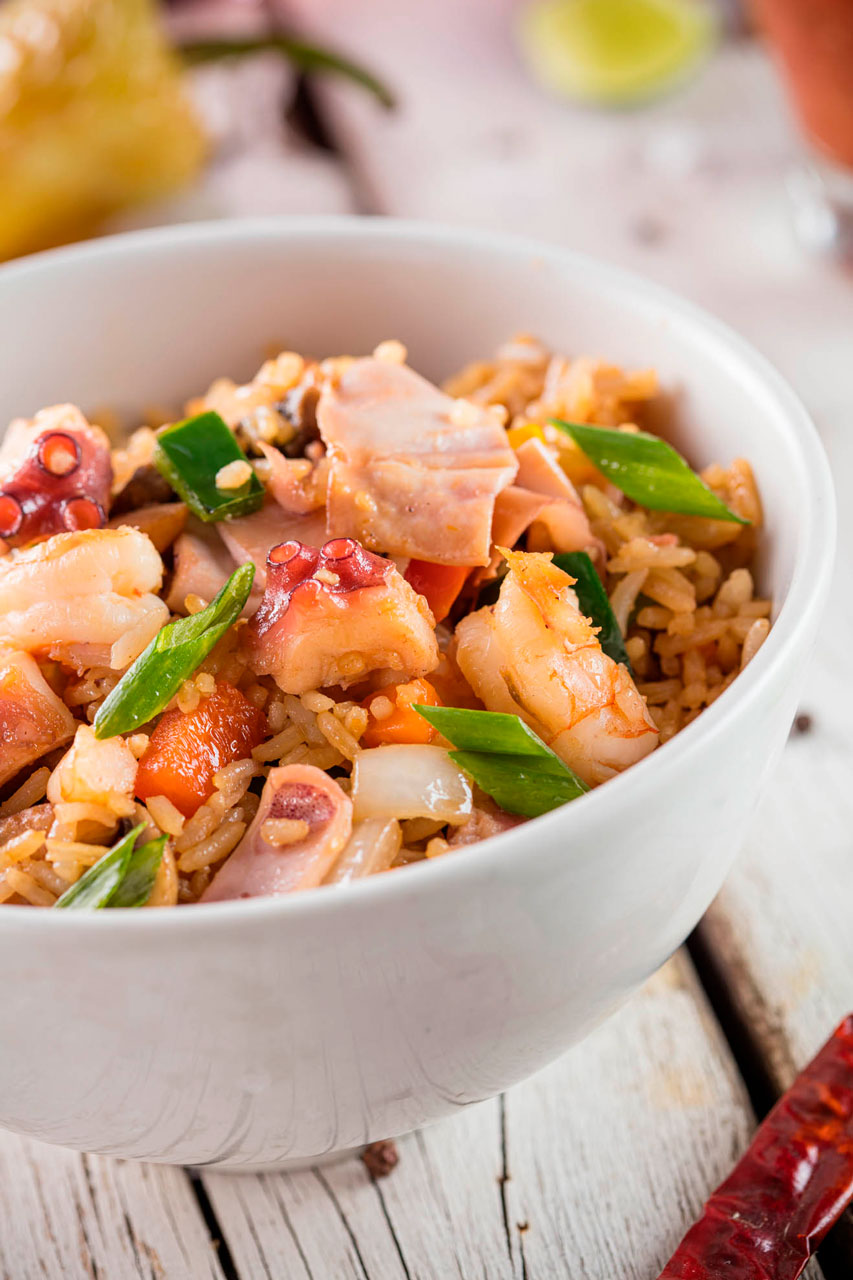 Special seafood rice