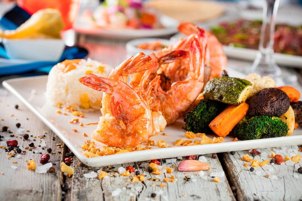 Garlic style shrimp