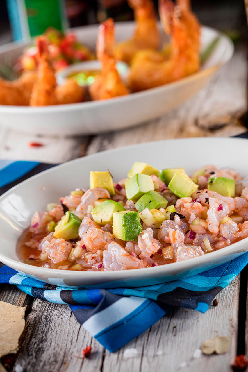 Special shrimp ceviche