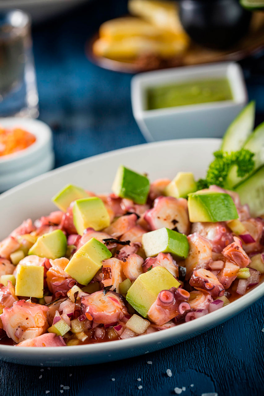 Octopus special ceviche