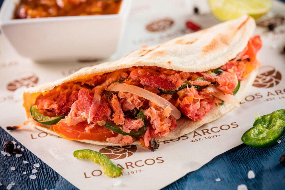 Smoked fish machaca taco