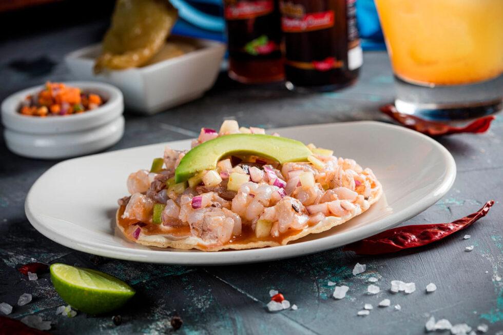 Shrimp Special Tostada